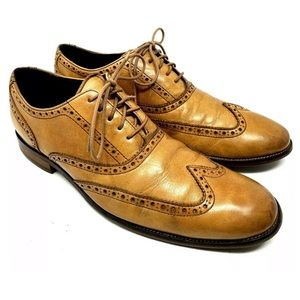 Cole Haan Brown Wing Tip Oxfords 1802